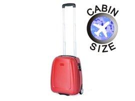 """Mała walizka """"MINI"""" PUCCINI ABS01 D czerwona"""