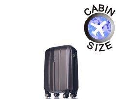 Mała walizka PUCCINI PC018 C szary antracyt