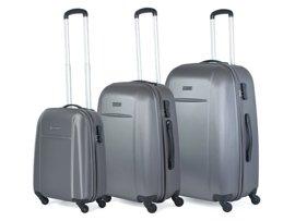 Zestaw trzech walizek PUCCINI ABS02 ABC szary antracyt